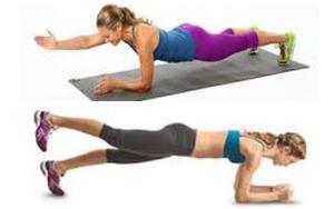 упражнение планка с тремя точками опоры