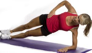 боковая планка - упражнение на локте