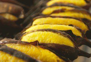 банан на гриле