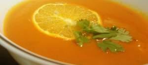 """диетическое блюдо """"Томатно-апельсиновый суп"""""""
