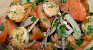 Салаты с морепродуктов для здорового питания
