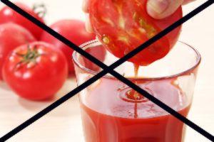 Кому противопоказано пить томатный сок