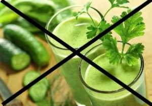 Кому противопоказаны зеленые коктейли