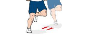 Прыжки на одной ноге из стороны в сторону