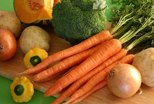Содержание витамина Е в овощах