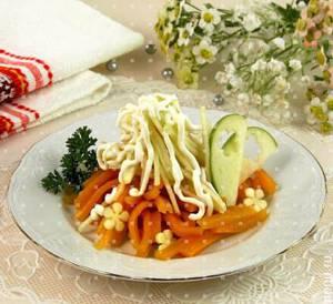 Калорийность салата из тыквы с яблоками