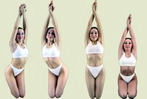 Основные упражнения калланетики. Круговые движения бедрами