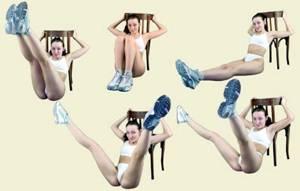 Основные упражнения калланетики. Подъем прямых ног в положении сидя