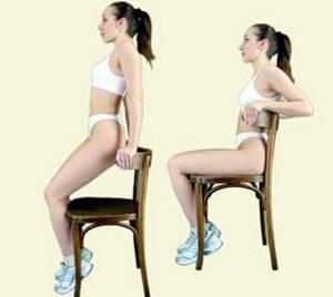 Основные упражнения калланетики. Подъем с опорой