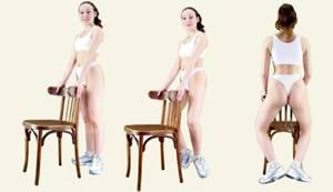 Основные упражнения калланетики. Полуприседы с использованием опоры