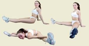 Основные упражнения калланетики. Уголок
