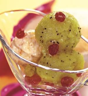 Калорийность и рецепт десерта из киви