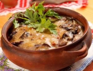 Калорийность картофельно-грибного жаркого