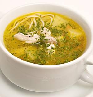 Калорийность куриного супа с лапшой