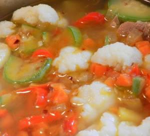 Калорийность супа-пюре с болгарским перцем и цветной капустой