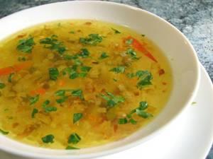 Калорийность супа с зеленым горошком