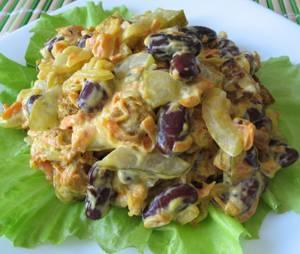 Рецепт и калорийность фасолевого салата