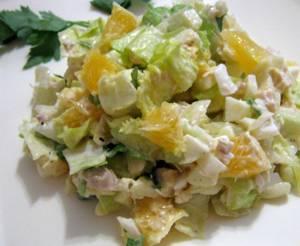 Рецепт салата с куриным мясом и апельсином