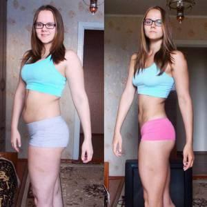 Светлана, практикуя калланетику 4 раза в неделю, добилась плоского живота