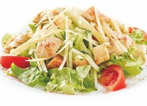 Сколько калорий в Цезаре с курицей