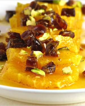 Сколько калорий в апельсиновом желе с финиками
