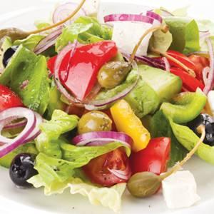 Сколько калорий в греческом салате с луком