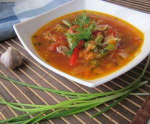 Сколько калорий в грибном супе со стручковой фасолью
