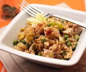 Сколько калорий в индейке с бурым рисом