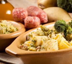 Сколько калорий в пасте с индейкой и брокколи