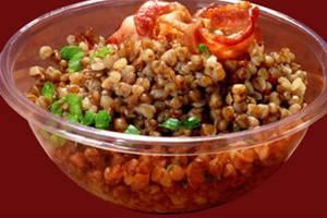 Сколько калорий в салате с киви и гречневой кашей