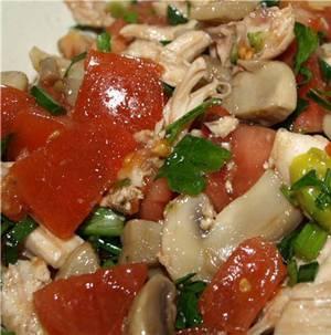 Сколько калорий в салате с шампиньонами и помидорами