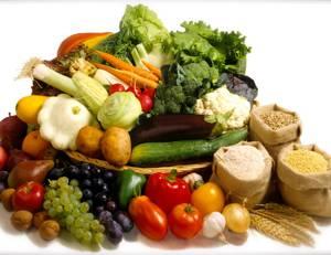 Таблица, содержащая список продуктов питания со сложными (медленными) углеводами