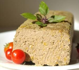Рецепт и калорийность печеночного паштета из говяжьей печени