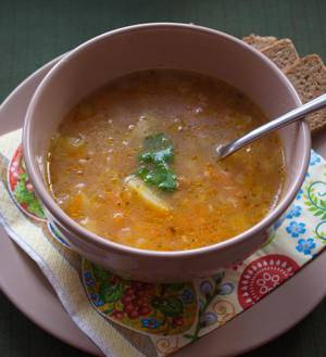 Рецепт и калорийность пшенного супа с курицей