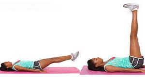 """Как необходимо выполнять упражнение """"Подъем ног в положении лежа"""" для похудения ляшек в домашних условиях"""