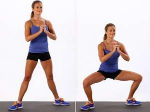 """Как необходимо выполнять упражнение """"Приседание плие"""" для похудения ляшек в домашних условиях"""