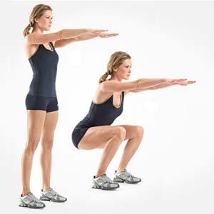 Как необходимо выполнять упражнение приседания для похудения ног и ляшек