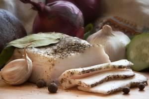 Калорийность и пищевая ценность сала