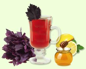 Рецепт и калорийность базиликового чая с каркаде