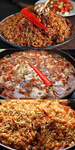 Рецепт приготовления и калорийность узбекского плова с нутом (турецким горохом)
