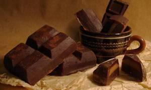 Калорийность и пищевая ценность черного горького шоколада