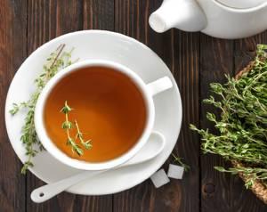 Чем полезен черный и зеленый чай с чабрецом