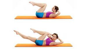 """Как выполнять пилатес упражнение """"Скрещивание"""""""