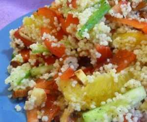 Рецепт приготовления с фото витаминного салата с кус-кусом