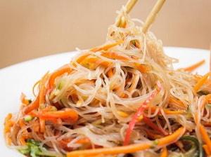 Салат из фунчозы с овощами рецепт пошагово в 20