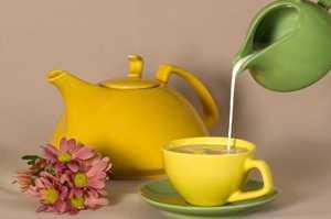 Химический состав и калорийность черного и зеленого чая с молоком