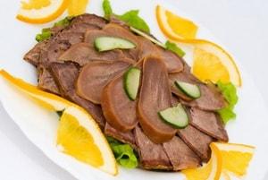 Каким должен быть язык длясамого вкусного рецепта с фото салат из говяжьего языка