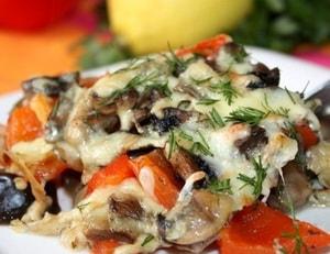Как приготовить овощную запеканку из баклажанов и перца в духовке
