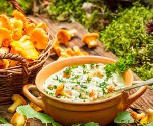 Химический состав, пищевая (БЖУ) и энергетическая (калорийность) ценность грибов лисичек