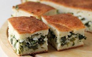 Как приготовить самый вкусный пирог с зелёным луком и яйцом на кефире